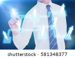 businessman pointing with his... | Shutterstock . vector #581348377