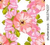 abstract elegance seamless... | Shutterstock .eps vector #581374237