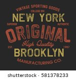 vintage college original new... | Shutterstock .eps vector #581378233