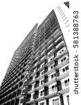 building construction erect... | Shutterstock . vector #581388763