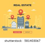 the real estate advertisement... | Shutterstock .eps vector #581403067