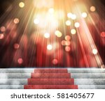 stage lighting background 3d... | Shutterstock . vector #581405677