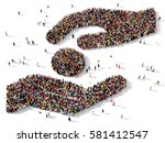 large and diverse group of... | Shutterstock . vector #581412547