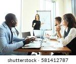 woman making a business...   Shutterstock . vector #581412787