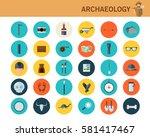 archaeological concept flat...   Shutterstock .eps vector #581417467