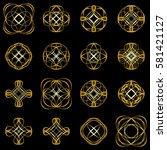 calligraphic design elements... | Shutterstock .eps vector #581421127