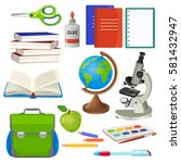 school necessary thing for... | Shutterstock .eps vector #581432947