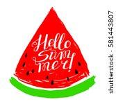summer design element with... | Shutterstock .eps vector #581443807