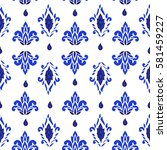 seamless pattern with fantasy... | Shutterstock .eps vector #581459227