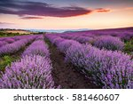 fiery cloud above a purple... | Shutterstock . vector #581460607