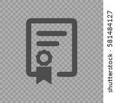 certificate vector icon eps 10. ... | Shutterstock .eps vector #581484127