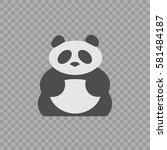 panda vector icon eps 10.... | Shutterstock .eps vector #581484187