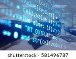 software developer programming... | Shutterstock . vector #581496787