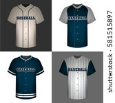 set of baseball shirts on... | Shutterstock .eps vector #581515897