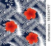 seamless pattern design.... | Shutterstock .eps vector #581534797
