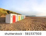 in woolacombe beach  devon ... | Shutterstock . vector #581537503