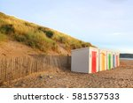 in woolacombe beach  devon ... | Shutterstock . vector #581537533
