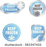 set of keep frozen with... | Shutterstock .eps vector #581547433