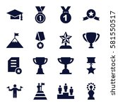 achievement icons set. set of... | Shutterstock .eps vector #581550517