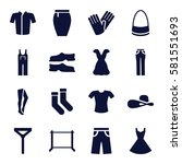 clothes icons set. set of 16... | Shutterstock .eps vector #581551693