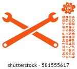 wrenches pictograph with bonus... | Shutterstock .eps vector #581555617