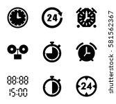 clock icons set. set of 9 clock ... | Shutterstock .eps vector #581562367
