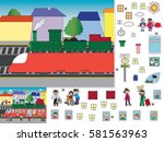 game for children  cut and... | Shutterstock . vector #581563963