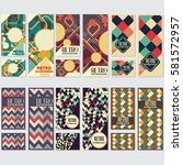 old retro vintage style... | Shutterstock .eps vector #581572957
