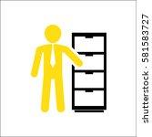 employee on white background | Shutterstock .eps vector #581583727