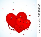 cute family heart  father ...   Shutterstock .eps vector #581590663