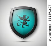 protection shield concept coat... | Shutterstock .eps vector #581591677