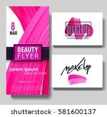 makeup business card. make up...