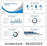 template presentation slides... | Shutterstock .eps vector #581603323