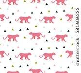 pink panther animal seamless...