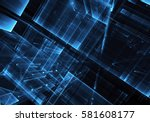 computer generated abstract... | Shutterstock . vector #581608177