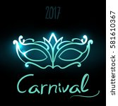 vector illustration carnival... | Shutterstock .eps vector #581610367