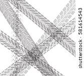 tire tracks vector | Shutterstock .eps vector #581614543