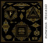 vector set of vintage elements... | Shutterstock .eps vector #581616163