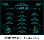 vector set of calligraphic... | Shutterstock .eps vector #581616277