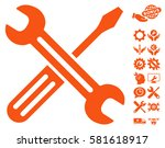 spanner and screwdriver icon... | Shutterstock .eps vector #581618917