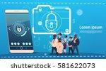 business people group wear... | Shutterstock .eps vector #581622073