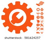 service tools pictograph with... | Shutterstock .eps vector #581624257