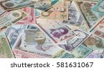variety of middle east banknotes | Shutterstock . vector #581631067