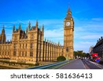 big ben clock tower in london... | Shutterstock . vector #581636413
