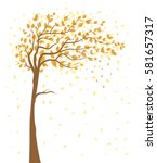 vector illustration of autumn... | Shutterstock .eps vector #581657317