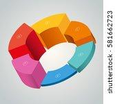 pie chart 3d | Shutterstock .eps vector #581662723