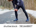 injury while running in the... | Shutterstock . vector #581668807