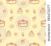 pattern. background texture.... | Shutterstock .eps vector #581673277