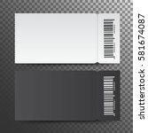 Ticket Template.  Isolated On ...