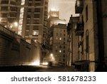 Dark Street On The Old Europea...